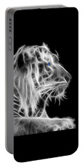 Portable Battery Charger featuring the photograph White Tiger by Shane Bechler