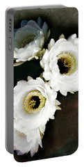 White Torch Blooms Portable Battery Charger