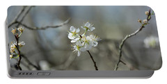 White Tree Bud Portable Battery Charger