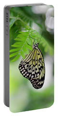 White Tree Nymph Butterfly 2 Portable Battery Charger by Marie Hicks