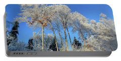 White Trees Clear Skies Portable Battery Charger