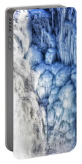 Portable Battery Charger featuring the photograph White Water And Blue Ice Gullfoss Waterfall Iceland by Matthias Hauser