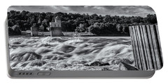 White Water At The Chain Of Rocks St Louis Bnw 7r2_dsc2256_10012017 Portable Battery Charger