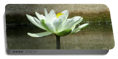 Portable Battery Charger featuring the photograph White Water Lily 2 by Randall Weidner