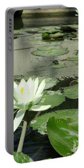 Portable Battery Charger featuring the photograph White Water Lily 3 by Randall Weidner