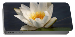 Portable Battery Charger featuring the photograph White Waterlily 1 by Jouko Lehto