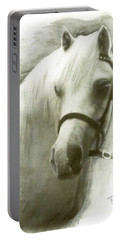 White Welsh Pony Portable Battery Charger
