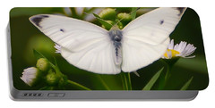 White Wings Of Wonder Portable Battery Charger by Kerri Farley