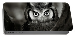 Whitefaced Owl Portable Battery Charger