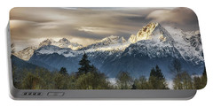 Whitehorse Sunrise, Flowing Clouds Portable Battery Charger