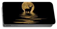 Whitetail Deer In The Moonlight Portable Battery Charger