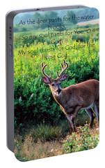 Portable Battery Charger featuring the photograph Whitetail Deer Panting by Thomas R Fletcher