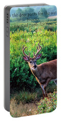 Whitetail Deer Panting Portable Battery Charger