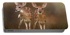 Whitetail Fawn Twins Portable Battery Charger
