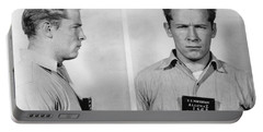 Whitey Bulger Mug Shot Portable Battery Charger by Edward Fielding