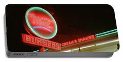 Whiz Burgers Neon, San Francisco Portable Battery Charger