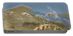 Portable Battery Charger featuring the digital art Who Has Seen The Wind? by Gina Harrison