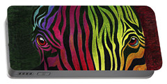 Portable Battery Charger featuring the painting What Are You Looking At by Peter Piatt