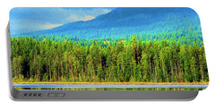 Portable Battery Charger featuring the photograph Whonnock Lake Mountain Photo Art by Sharon Talson