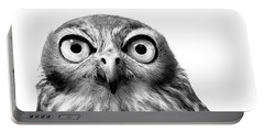 Whoo You Callin A Wise Guy Portable Battery Charger by Marion Cullen