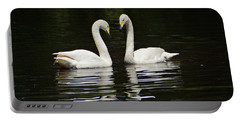 Portable Battery Charger featuring the photograph Whooper Swans by Sandy Keeton