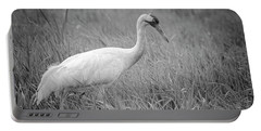 Whooping Crane 2017-4 Portable Battery Charger by Thomas Young