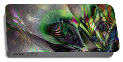 Portable Battery Charger featuring the digital art Whoosh by Kiki Art