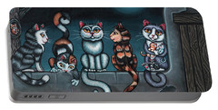 Whos Your Daddy Cat Painting Portable Battery Charger