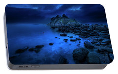 Portable Battery Charger featuring the photograph Whytecliff Dusk by John Poon