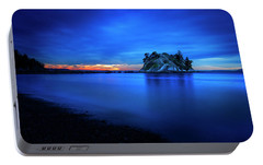 Portable Battery Charger featuring the photograph Whytecliff Sunset by John Poon