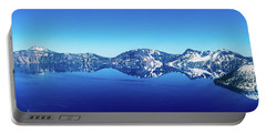 Portable Battery Charger featuring the photograph Wide Crater Lake by Jonny D