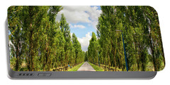 Wide Road With Trees Portable Battery Charger by Patricia Hofmeester