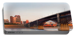 Wide View Of St Louis And Eads Bridge Portable Battery Charger by Semmick Photo
