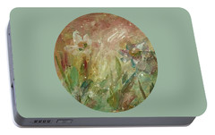 Portable Battery Charger featuring the painting Wil O' The Wisp by Mary Wolf