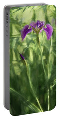 Portable Battery Charger featuring the photograph Wild Alaskan Iris II by Penny Lisowski
