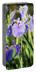 Portable Battery Charger featuring the photograph Wild Alaskan Irises IIi by Penny Lisowski