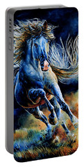 Portable Battery Charger featuring the painting Wild And Free by Hanne Lore Koehler