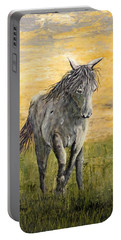 Wild And Free Portable Battery Charger by Suzanne Theis