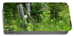 Portable Battery Charger featuring the photograph Wild And Wildflowers by Marie Leslie