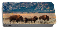 Wild Bison On The Open Range Portable Battery Charger