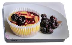 Wild Black Raspberry Dessert Portable Battery Charger by Lori Deiter