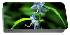Wild Blue Flowers Portable Battery Charger