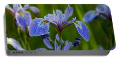Wild Blue Iris Portable Battery Charger