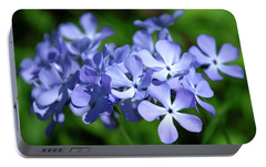 Portable Battery Charger featuring the photograph Wild Blue Phlox Dspf0391 by Gerry Gantt