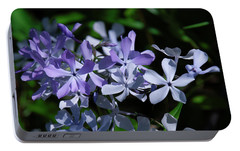 Portable Battery Charger featuring the photograph Wild Blue Phlox Dspf0395 by Gerry Gantt