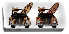 Wild Cats Go Surfing Portable Battery Charger
