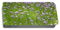 Portable Battery Charger featuring the photograph Wild Chives by Chevy Fleet