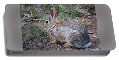 Wild Colorado Cottontail In The Brush Portable Battery Charger