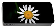 Portable Battery Charger featuring the digital art Wild Daisy by Chris Flees