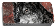 Wild Dark Wolf Portable Battery Charger
